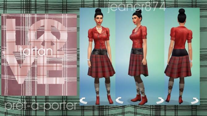Sims 4 Love tartan by jeancr874 at La Boutique de Jean