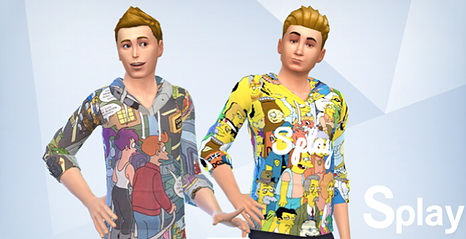 Sims 4 X Simpson clothes at Splay