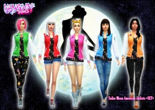 Sims 4 Sailor Moon American Jackets at Gabymelove Sims