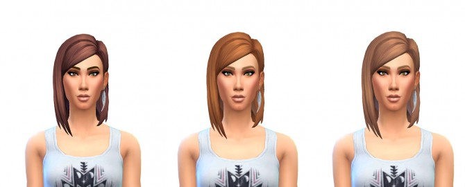 Medium Straight Part Hair 12 Recolors at Busted Pixels image 1215 Sims 4 Updates