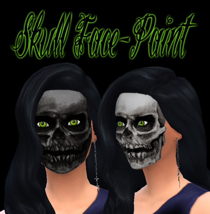 Skull Face Paint at Brutal de Sims4 187 Sims 4 Updates : 12161 from sims4updates.net size 670 x 685 jpeg 78kB