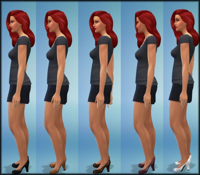 Maxis Pumps with Thicker Heel by Julie J at Mod The Sims image 1217 Sims 4 Updates