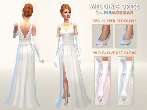 Sims 4 Wedding Dress 3 Colors at Simply Morgan