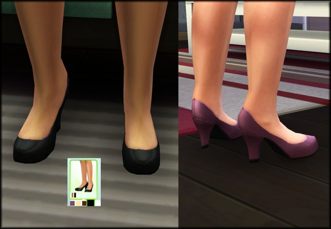 Maxis Pumps with Thicker Heel by Julie J at Mod The Sims image 1224 Sims 4 Updates