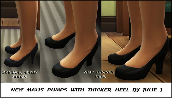 Maxis Pumps with Thicker Heel by Julie J at Mod The Sims image 1233 Sims 4 Updates