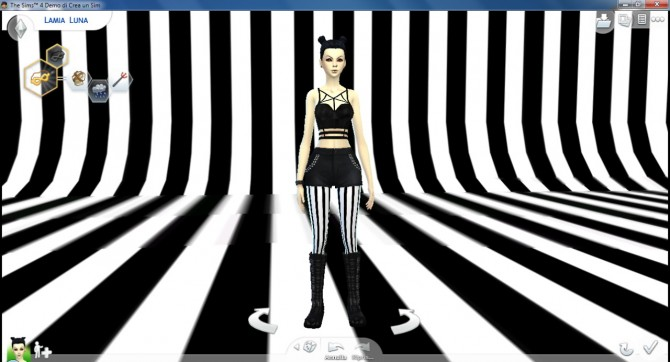 Stripes CAS background at DecayClown's Sims image 1245 Sims 4 Updates
