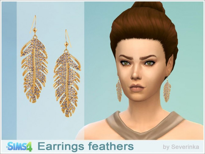 Feather earrings at Sims by Severinka image 126 Sims 4 Updates
