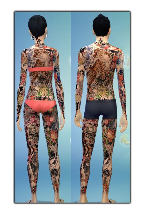 Japanese Full Body Tattoo At Gefa Sims 187 Sims 4 Updates