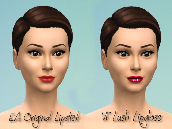 Victorias Fortune Lush Lipgloss by fortunecookie1 at TSR image 13 Sims 4 Updates