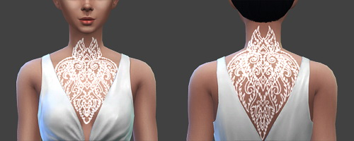 Chest and back tattoos at SqquareSims image 1312 Sims 4 Updates