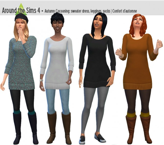Sims 4 Autumn Cocooning set by Sandy at Around the Sims 4