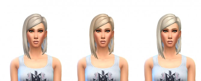 Sims 4 Medium Straight Part Hair 12 Recolors at Busted Pixels