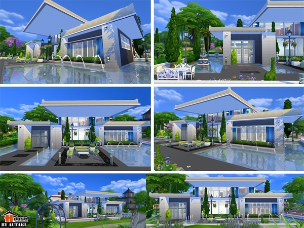 Sirintra modern design house by autaki at tsr sims 4 updates for Sims 4 house plans