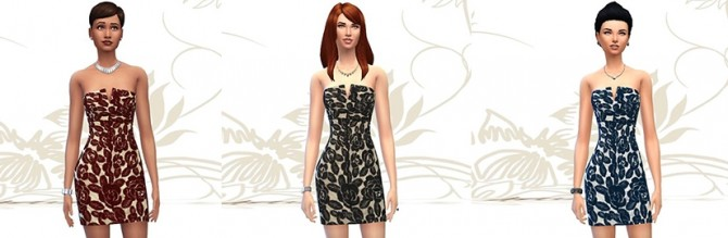 Floral lace dress by Fuyaya at Sims Artists image 1331 Sims 4 Updates