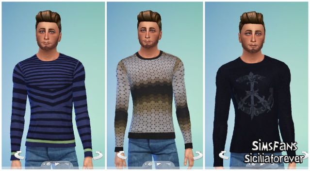 T shirt set by siciliaforever at Sims Fans image 1332 Sims 4 Updates