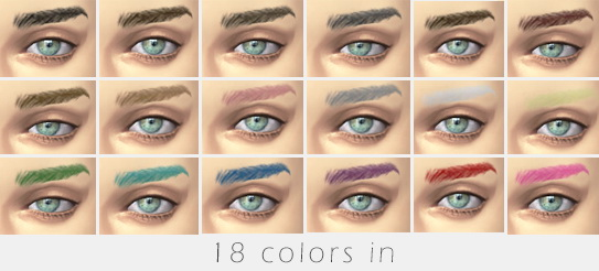 Eyebrows for TS4 by Miss Duo at m1ssduo image 134 Sims 4 Updates
