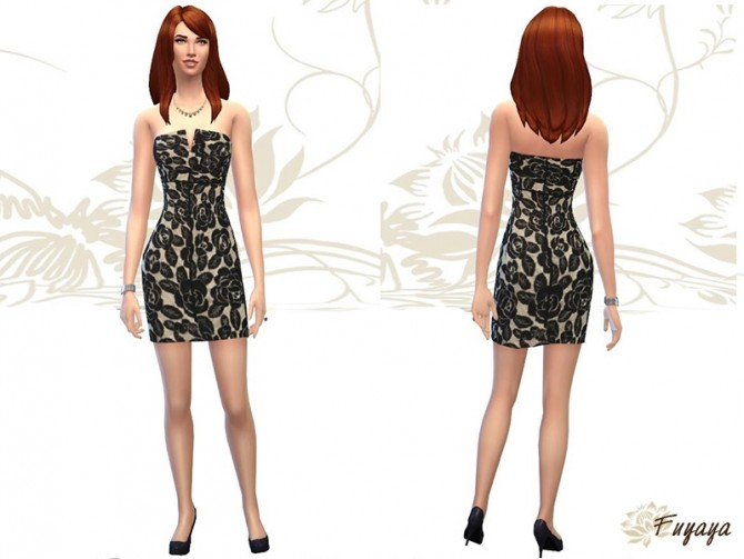Floral lace dress by Fuyaya at Sims Artists image 1342 Sims 4 Updates