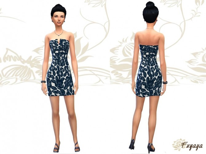 Floral lace dress by Fuyaya at Sims Artists image 1361 Sims 4 Updates