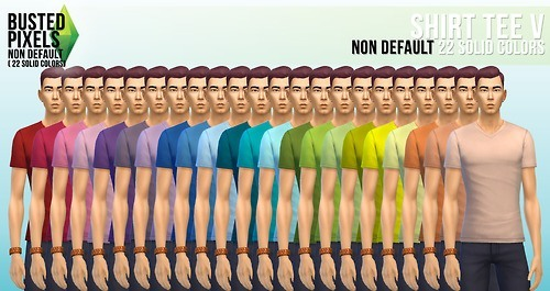 Clothes solid recolors at Busted Pixels image 13631 Sims 4 Updates