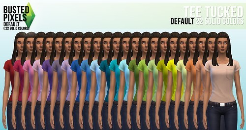 Clothes solid recolors at Busted Pixels image 13731 Sims 4 Updates