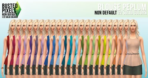 Clothes solid recolors at Busted Pixels image 13831 Sims 4 Updates