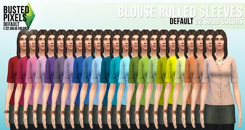 Clothes solid recolors at Busted Pixels image 13931 Sims 4 Updates
