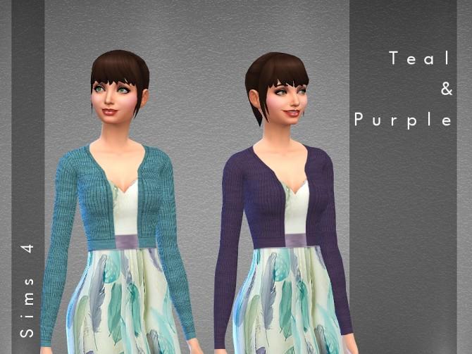 Sims 4 Feather print maxi dress at Hrekkjavaka Sims