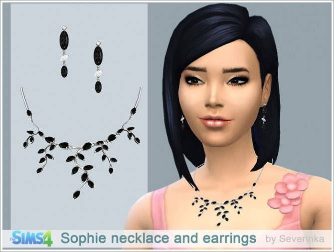 Sophie necklace and earrings at Sims by Severinka image 1402 Sims 4 Updates