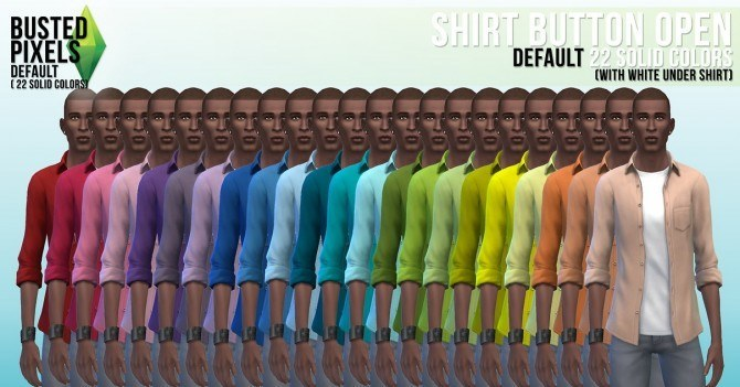 Clothes solid recolors at Busted Pixels image 14031 Sims 4 Updates