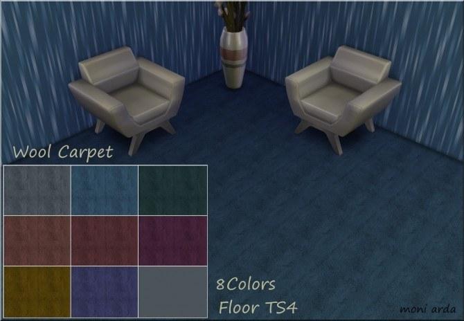 Sims 4 Wool Carpet by Moni at ARDA
