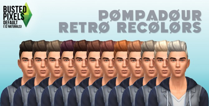 Pompadour retro hair recolors at Busted Pixels image 1419 Sims 4 Updates