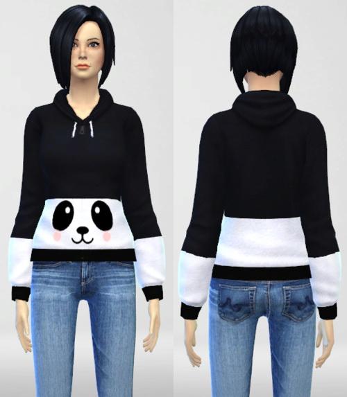 Sims 4 Cute Panda Hoodie at Nekros