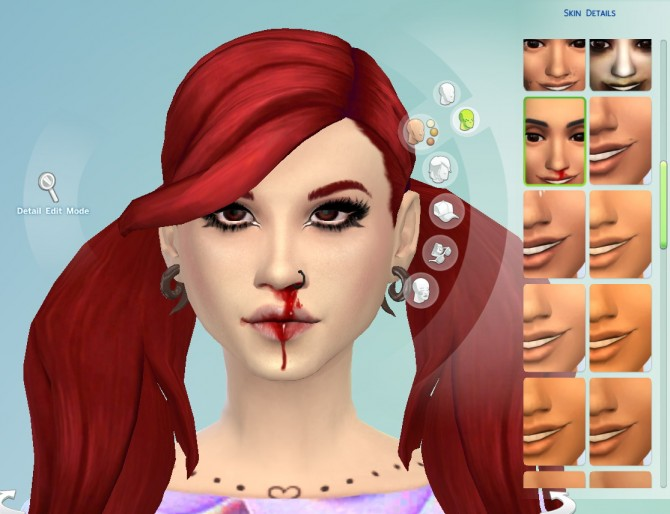 Sims 4 Nosebleed Skin Overlay at Jingleriot's Sims