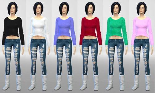 Sims 4 UKTRASH Sweater Recolors at Nekros