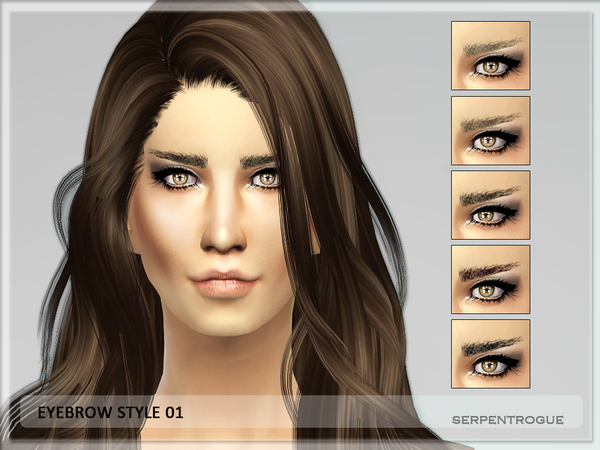 Sims 4 Eyebrow Style 01 by Serpentogue at TSR