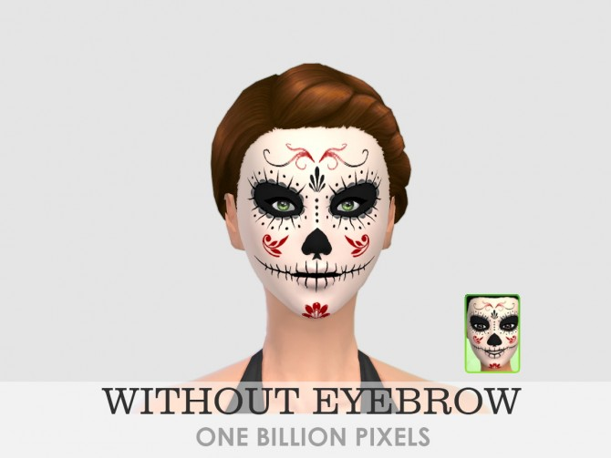 Sims 4 Sugar Skull Dia de los Muertos at One Billion Pixels