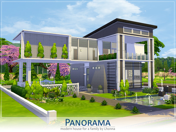 Panorama house by Lhonna at TSR image 15131 Sims 4 Updates