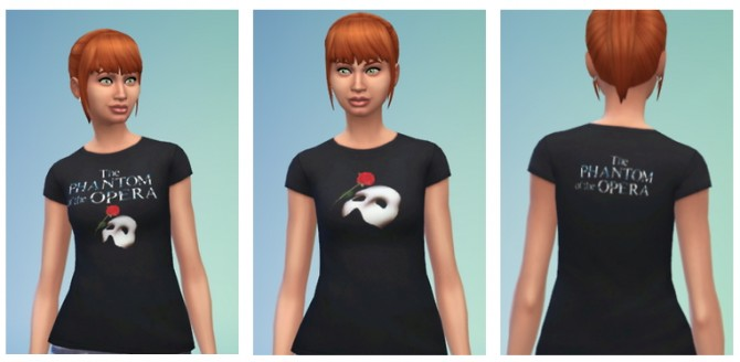 Sims 4 2 Phantom of the Opera t shirts at SimFeetUnder