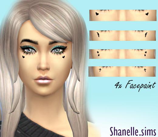 Sims 4 Cute facepaint 4 x designs at Shanelle Sims
