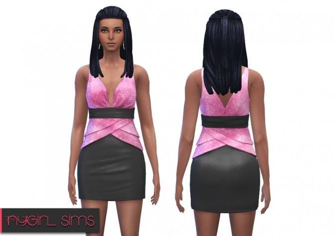 Sims 4 Random dress recolor at NyGirl Sims