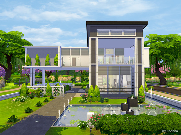 Panorama house by Lhonna at TSR » Sims 4 Updates