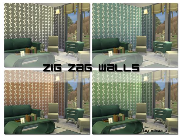 Zig Zag Walls by Degera at TSR image 1620 Sims 4 Updates