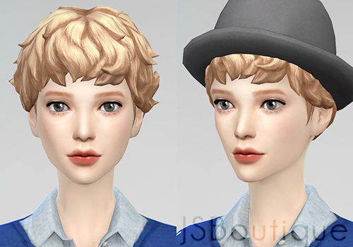 Sims 4 Medium curly hair converted for females at JSBoutique