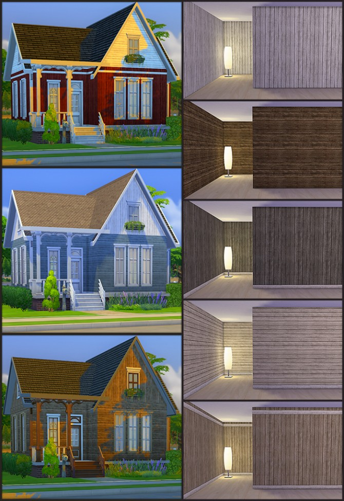 Sims 4 Panels in 5 styles and 12 colors each at Simsrocuted