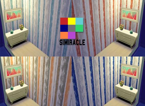 Sims 4 More Stripes walls at Simiracle
