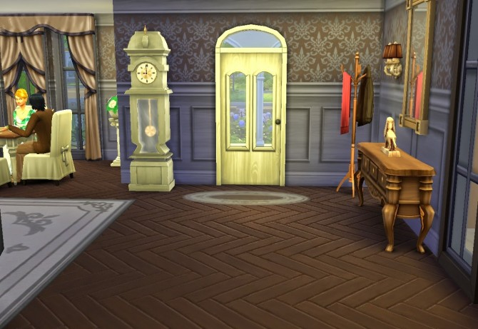 Sims 4 House for a provincial aristocrat at Architectural tricks from Dalila