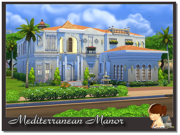 Sims 4 Mediterranean Manor by evanell at TSR