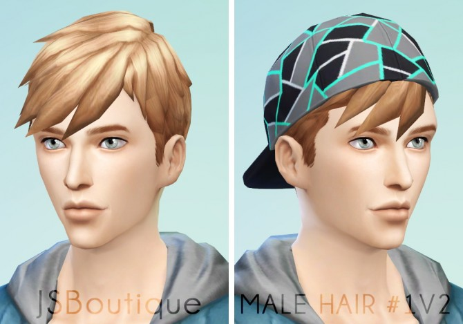 Redo Of Male Hair 1 At Jsboutique Sims 4 Updates