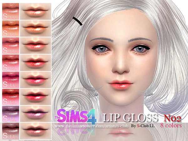 LL Lipstick Glossy 02 by S Club at TSR image 18 Sims 4 Updates