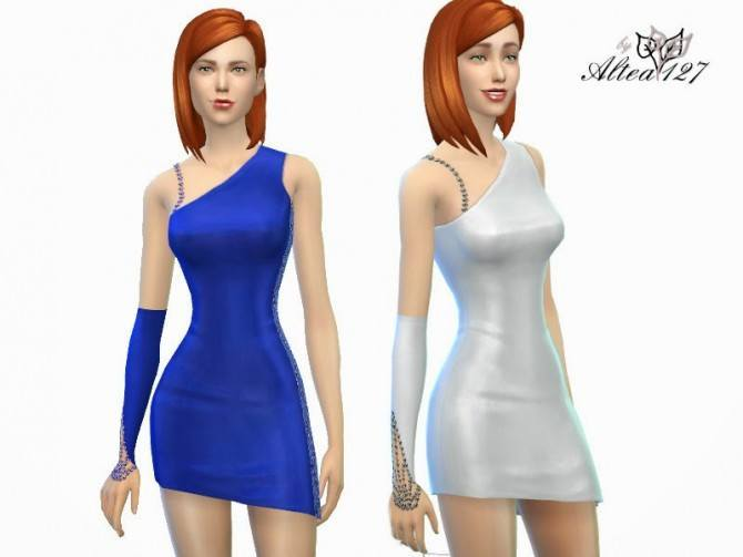 Asymmetric Dress at Altea127 SimsVogue image 18151 Sims 4 Updates